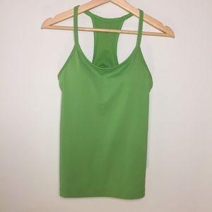 Athleta Green Workout Top w/ Racerback 34B
